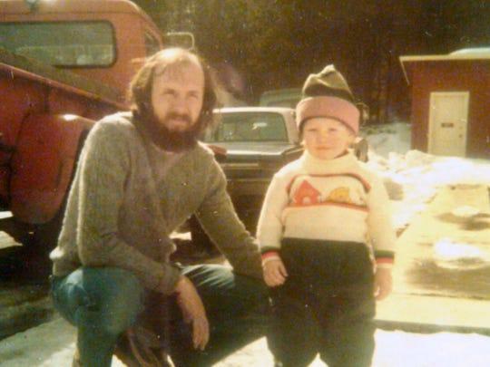 Brooke Ostrander with his son, Jordan, circa 1980.
