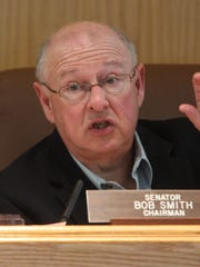 """Sen. Bob Smith, D-Middlesex, says an environmental trust fund is a """"grand slam.''"""