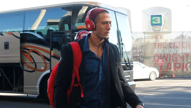 """San Francisco 49ers quarterback Colin Kaepernick was fined $10,000 for wearing """"Beats by Dre"""" headphones. The NFL has an endorsement deal with Bose."""