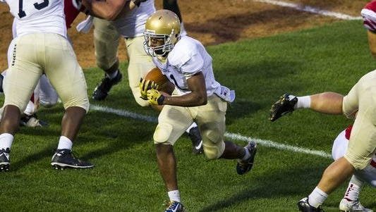 Cathedral running back Markese Stepp committed to Notre Dame.