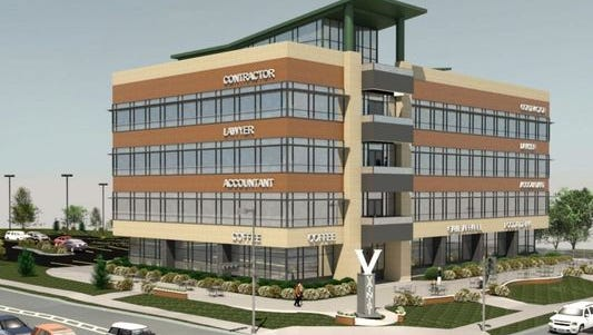 Developer Tim Kuehn plans this office building on the northeast corner of South Ridge Road and Lombardi Avenue, across the street from Lambeau Field.