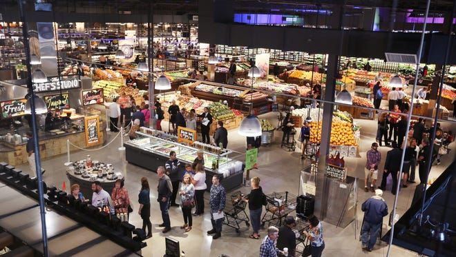 The opening of Carmel's Market District store attracted big crowds on Oct. 7, 2015. The 120,000-square-foot store at West 115th and North Illinois streets in Carmel is Giant Eagle company's 13th location.