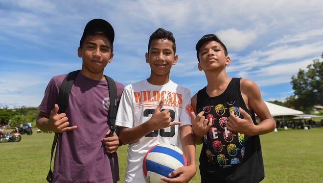 The Government of Guam annual Labor Day Picnic was held at Governor Joseph Flores Beach Park in Tumon on Sept. 3, 2017. From left: Fred Fernandez, 14, Tyrone Buekis, 12, and William Castro, Jr., 12.
