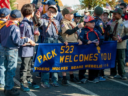 Colonia Cub Scout Pack 523 spent Sunday, Nov. 13, thanking