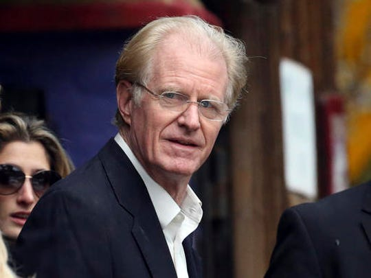 Actor Ed Begley Jr. arrives at a memorial service at the homes of Debbie Reynolds and her daughter Carrie Fisher in Los Angeles Thursday, Jan. 5, 2017. Reynolds died Dec. 28 at the age of 84, a day after her daughter died at the age of 60.