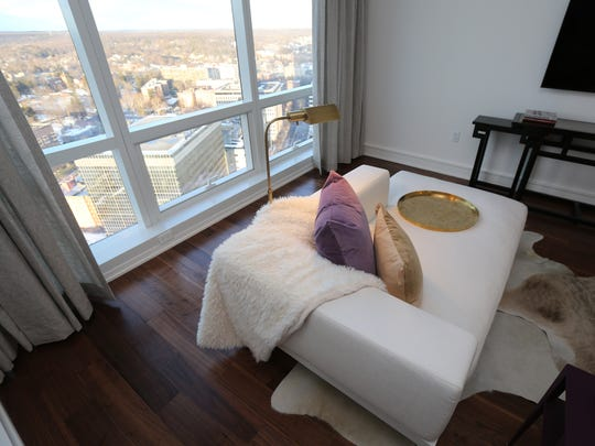 A view of one of the rooms in Penthouse C at The Residences at The Ritz-Carlton in White Plains, Jan. 27, 2016. Condominium sales in Westchester for 2015, went up by more than 20 percent from 2014.