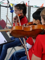 In this 2017 file photo, members of the Wichita Falls Youth Symphony Orchestra perform at Spring Fever. The youth symphony will perform at 1:30 and 4 p.m. April 22 at Akin Auditorium, MSU, 3410 Taft Blvd.