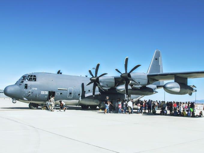 Students got to climb a board a C-130 Hercules at Holloman