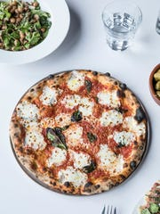 A pizza from Folk, Philip Krajeck's new East Nashville