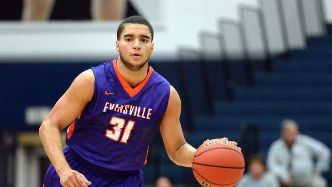 Evansville Aces guard D.J. Balentine (31) broke the school's scoring record on Saturday.