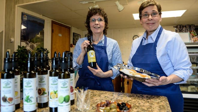 Laura Zeppos and Rita Vranesic, owners of The Aegean Table, a new Greek retail store at 849 Oak Street in Lebanon.