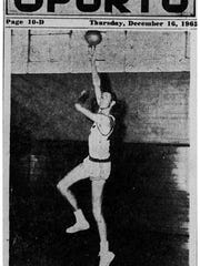 Dec. 16, 1965: LONG LONNIE - Lonnie Hughey, a 6-foot-7, 215 pounder, will lead the Fresno tate Bulldogs against the Texas Westen Miners Friday and Saturday at Memorial Gym. Hughey is being touted for All-American honors.