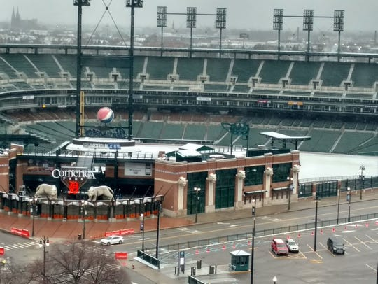 A look at Comerica Park early Tuesday before the Tigers played the Orioles.