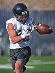Receiver Tucker Melcher overcame a serious medical issue to continue his playing career at Nevada.