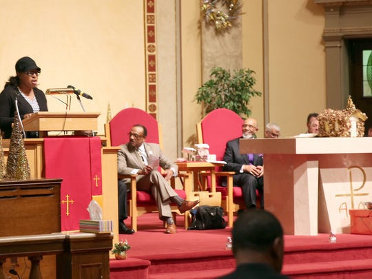 Mayor Lovely Warren spoke at the service at Pentecostal Miracle Deliverance Center Church, for the MLK Jr. service. Warren said by following MLK Jr.'s example, the city of Rochester will move forward.