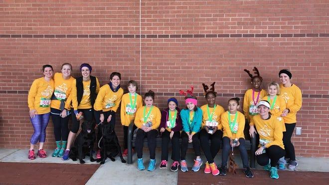 Shown is Palmetto Elementary School third through fifth-grade Girls on the Run team.