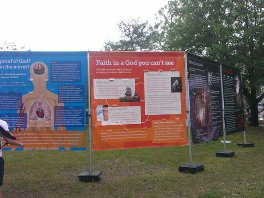 Traveling evangelist and preacher Tom Short set up