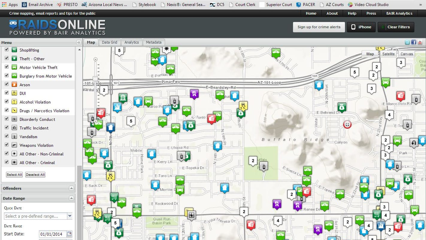phoenix police bring crime mapping to public -