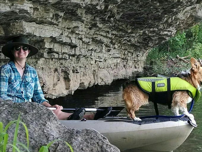 Jess Cupp of Springfield and her pooch Stella hit the waters about once a week. Cupp is choosing not to have children based solely on environmental reasons.