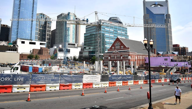 Developers of the $450 million mixed-use project at the intersection of Fifth Avenue and Broadway in downtown Nashville have requested $25 million in tax-exempt bonds.