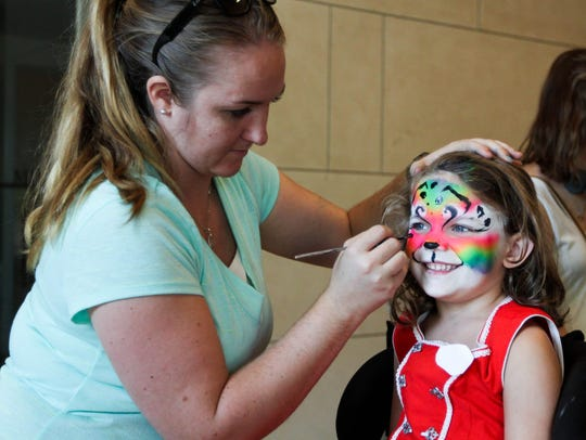 Kids can get their faces painted this weekend during