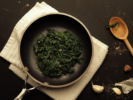 Wilted Spinach with Nutmeg and Garlic.