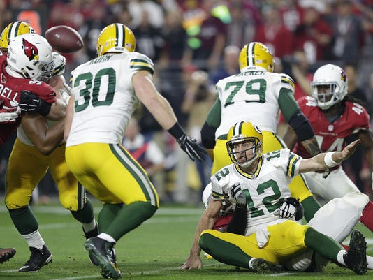 Aaron Rodgers, fumble