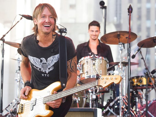 "Keith Urban performs on NBC's ""Today"" show Friday,"