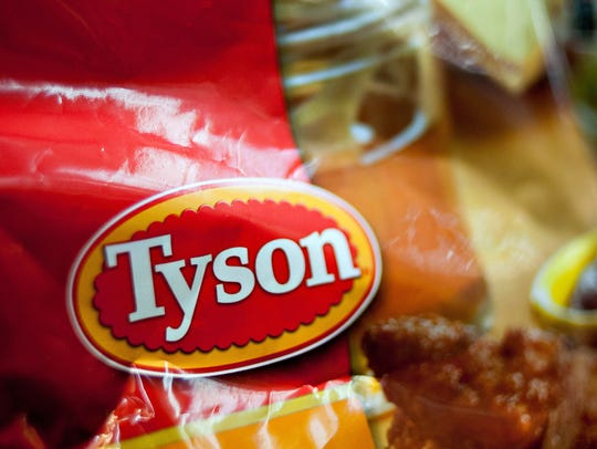 A certain type of Tyson frozen chicken strips labeled