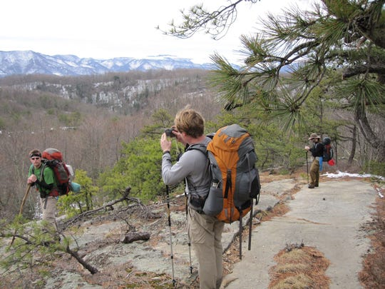 Hikers along the Pine Mountain Trail in Eastern Kentucky.