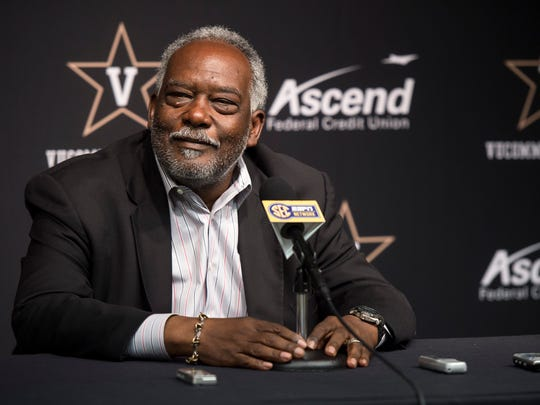 Vanderbilt athletics director David Williams speaks during a press conference regarding the departure of men's basketball coach Kevin Stallings at Vanderbilt University, Monday, March 28, 2016, in Nashville, Tenn.