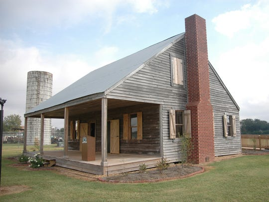 The Epps House, which was reconstructed on the LSUA