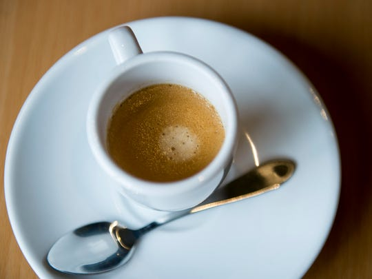 A cup of espresso from Stella Pizza in Collingswood.