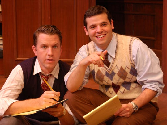 """Marc Tumminelli (right) and John Patrick Hayden performed in """"Broadway Bound"""" in 2007 at the St. Michael's Playhouse."""
