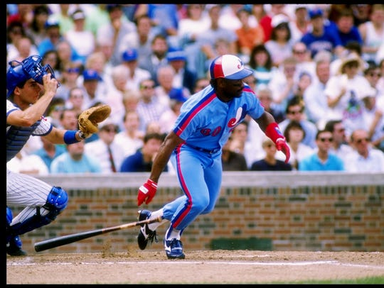 Tim Raines hit .330 with a .429 on-base percentage