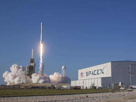 SpaceX's Falcon 9 rocket lifts off from Kennedy Space