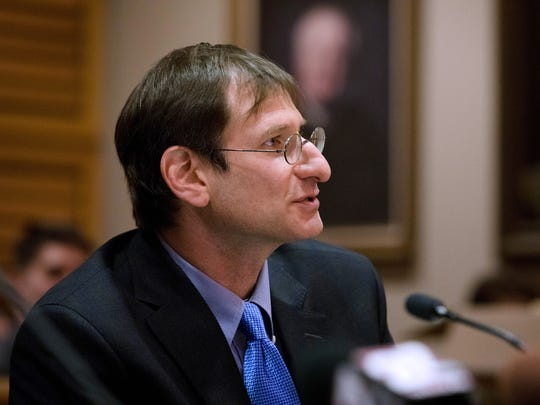 Innocence Project attorney Bryce Benjet argues on behalf of Richard Beranek on Feb. 14, 2017 in Dane County Circuit Court. Beranek is seeking to overturn his 1990 conviction for sexual assault based on new DNA evidence that contradicts findings from an FBI hair analyst. The agency acknowledges its expert's testimony was scientifically invalid.