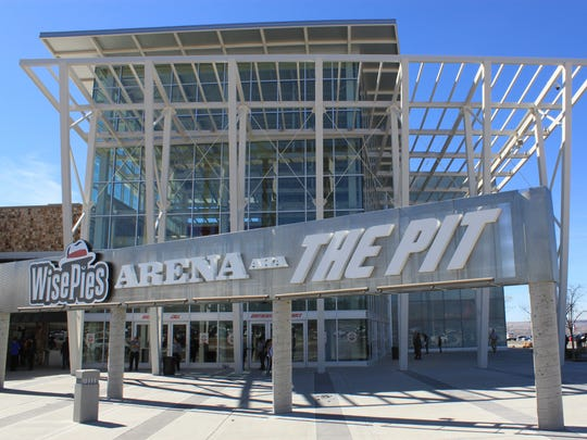 In this March 8 2017, file photo, this image shows the University of New Mexico arena, known as The Pit, in Albuquerque.