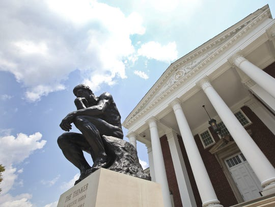The Thinker at the University of Louisville.