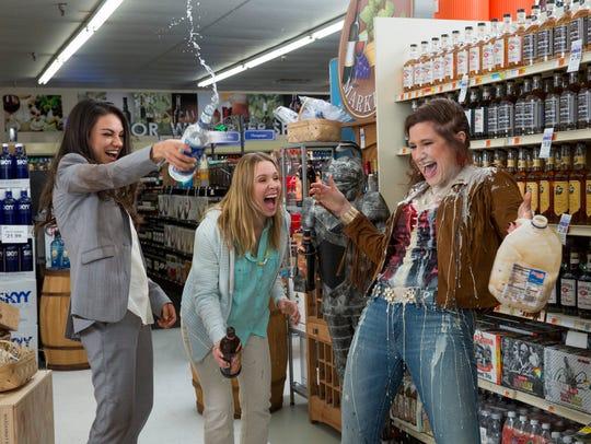 Mila Kunis, Kristen Bell and Kathryn Hahn live large