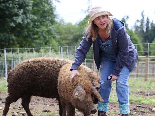 Tania Issa fell in love with mangalitsa pigs after