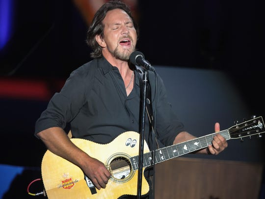 Eddie Vedder of Pearl Jam performs earlier this year in Chicago.