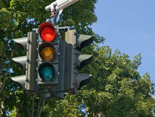 Red light on the traffic signal means stop