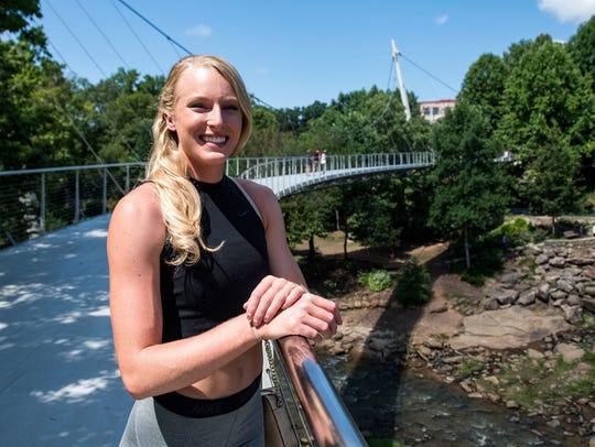 Olympic silver medalist Sandi Morris is in Greenville