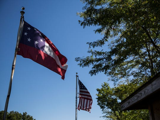 The first confederate national flag and the civil war