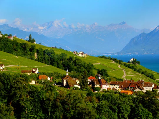 Astonishing natural beauty surrounds the Lake Geneva Region of Switzerland. (Joanne and Tony DiBona)