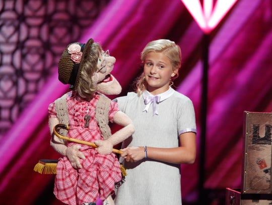 Darci Lynne Farmer uses different puppets that range