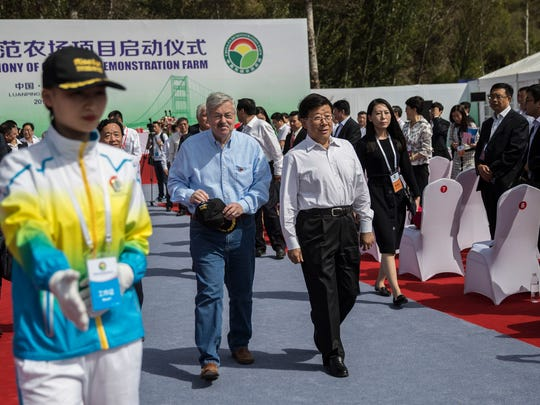 Ambassador Terry Branstad and Hebei Party Secretary,