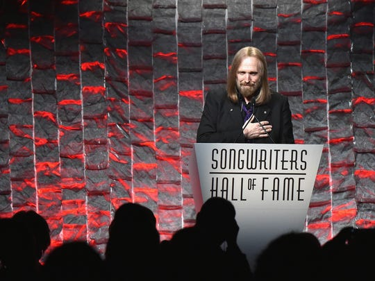 Tom Petty speaks onstage during the Songwriters Hall Of Fame 47th Annual Induction and Awards at Marriott Marquis Hotel on June 9, 2016, in New York City.
