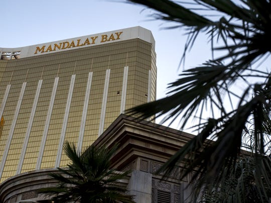 Shattered windows from Stephen Paddock's room can be